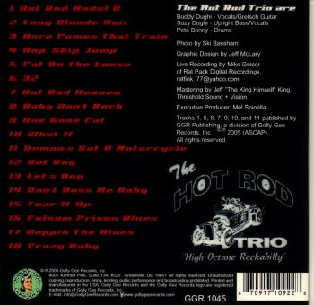 CD: The Hot Rod Trio - Live! (back cover)