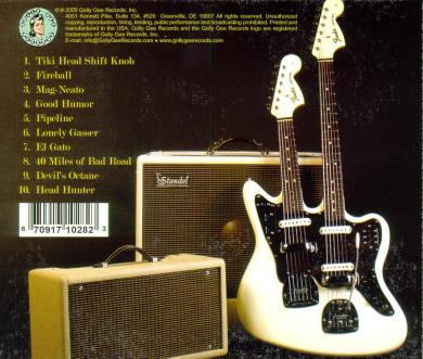 CD: Buddy Dughi - plays Hot Rod Surf (back cover)