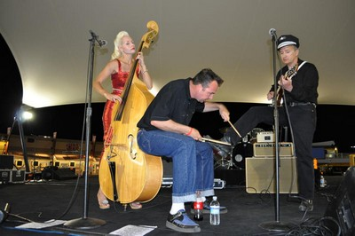 The Hot Rod Trio at the Rockabilly Rod Reunion in Las Vegas.